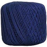 Threadart 100% Pure Cotton Crochet Thread - SIZE 3 - Color 41 - BLUE -2 sizes 27 colors available (Color: BLUE, Tamaño: SIZE 3 SINGLE)