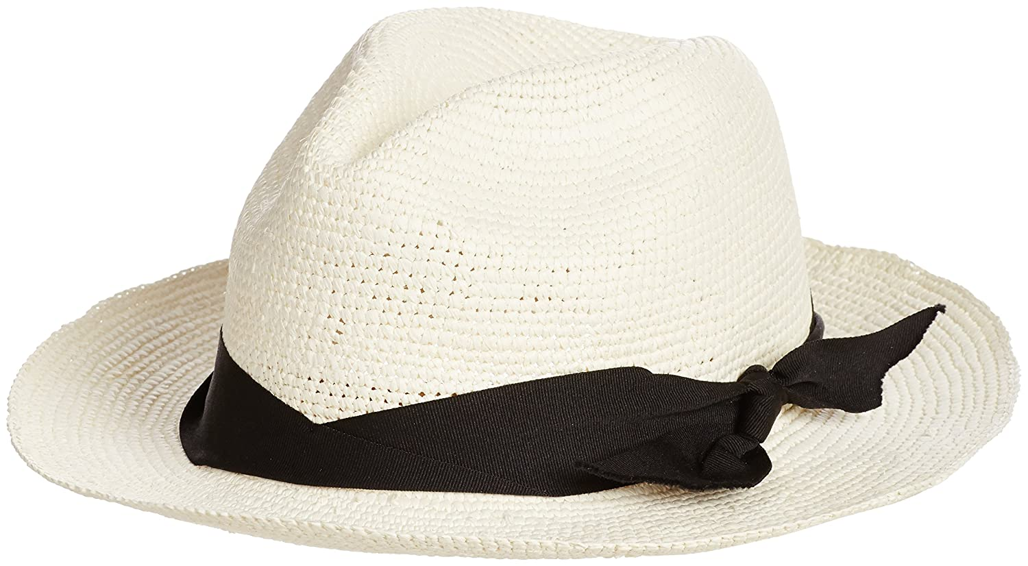 Amazon.co.jp: (センシ スタジオ)SENSI STUDIO(センシ スタジオ) Panama Hat crochet semi bow band 187 white x black Medium: 服&ファッション小物通販