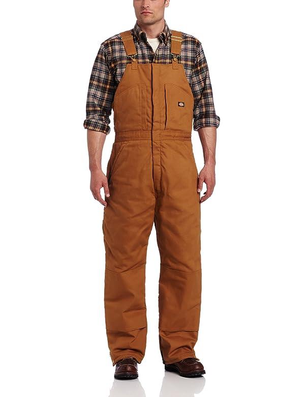 Dickies Men's Insulated Bib Overall, Brown Duck, Extra Large-Regular (Color: Brown Duck, Tamaño: X-Large/Regular)