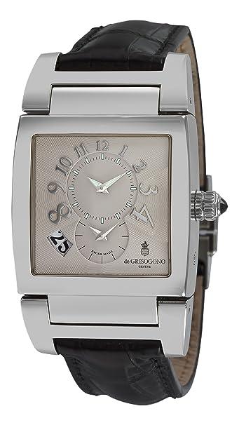 de GRISOGONO Instrumento No. Uno Mens Automatic 2nd Time Zone Watch