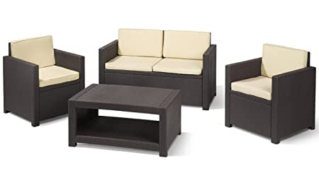 Allibert mobili Set Lounge Monaco marrone