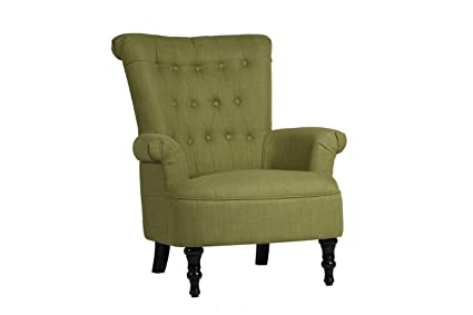 Birlea Edinburgh Chair, Fabric, Olive