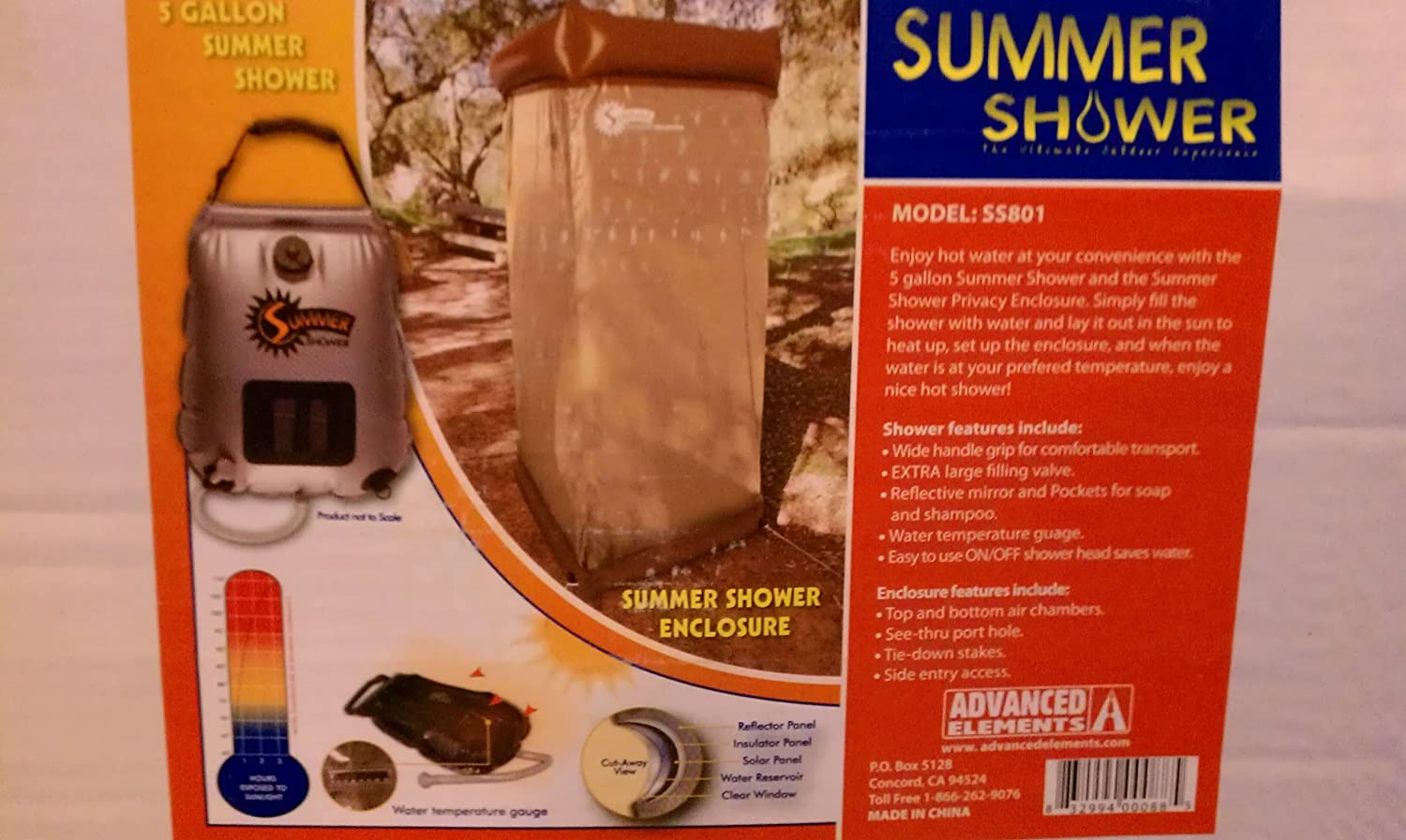 5 Gallon Summer Shower and Summer Shower Privacy Enclosure Combo Pack by Advanced Elements philips satinshave advanced brl140