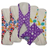 Love My ® /Mama/Girl/Maiden/Antibacterial Bamboo fiber/ Menstrual Pads/ Reusable/ Panty Liners - 6pcs pack-(Middle size) (Color: Middle size)