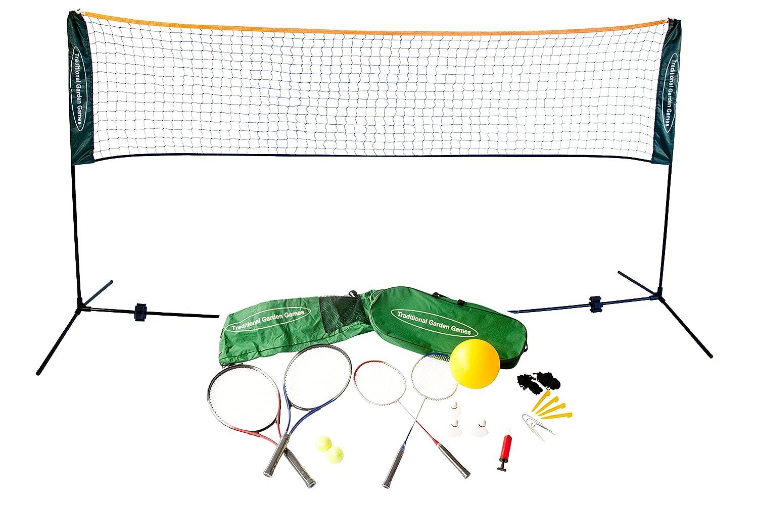 Traditional Garden Games 5 m Badminton Volleyball und Tennis Spielset günstig kaufen