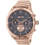 Nixon A366-2046 Ladies Bullet Rose Gold Gunmetal Chrono Watch (Color: grey)