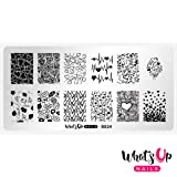 Whats Up Nails - B024 Love is Everywhere Stamping Plate for Nail Art Design (Color: Silver plate, white backing, Tamaño: B024 Love is Everywhere)