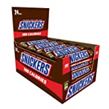 SNICKERS 100 Calories Chocolate Candy Bar 0.76-Ounce Bar 24-Count Box