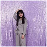 3e Home 5FT x 7FT Sequin Photography Backdrop Curtain for Party Decoration, Lavender (Color: Lavender, Tamaño: 5x7 ft)