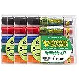Pilot V Board Master Refillable Dry Erase Markers, Bullet Tip, Assorted Ink Colors, 15-Pack (43921)