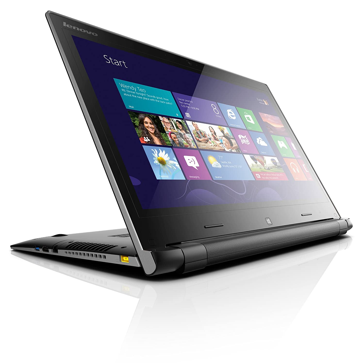 Lenovo 59406981 IdeaPad Flex 15 15.6-Inch Touchscreen Laptop Black