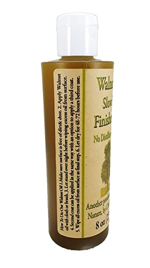 Chalk Mountain Brushes 8oz Walnut Oil Food Safe Finisher. Great for Wooden Utensils. Preserve and Beautify Unfinished Wood (Color: walnut clear tint, Tamaño: 8oz)