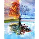 DIY Paint by Numbers for Adults DIY Oil Painting Kit for Kids Beginner - Four Season Tree of Life 16