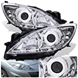 For Mazda 3 Sedan Hatchback Front Bumper Projector Headlight Head Lamp Chrome Housing Clear Lens Clear Reflector Upgrade Assembly Pair Left Right