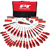 Performance Tool W1721 Screwdriver Set with Pouch, 100-Piece (Tamaño: Screwdriver Set with Pouch, 100-Piece)
