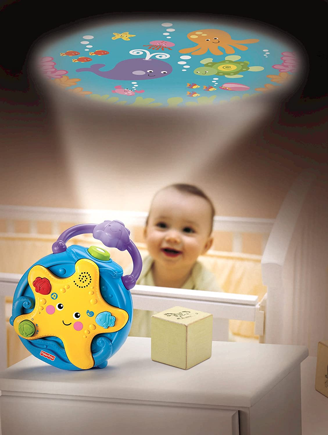 Fisher Price Ocean Wonders Projector Soother New Free