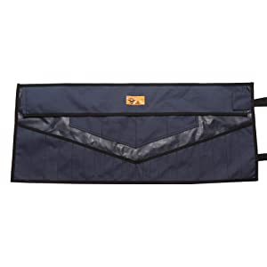 Bull Tools Wrench & Tool Roll 22+4 pocket 100% Dyed 15 Oz. Cotton Duck Canvas (1 Piece, Navy Blue) (Color: Navy Blue, Tamaño: 1 Piece)