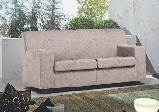 "Sofa bed 3 seater with slatted base ""Katia"" with choice of finish fully removable 203 x 74 x 83 - Made in Italy"