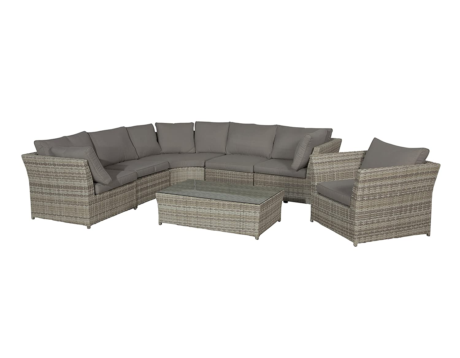 Garden Impressions Lounge Set Dubai Passion Willow, 7-teilig