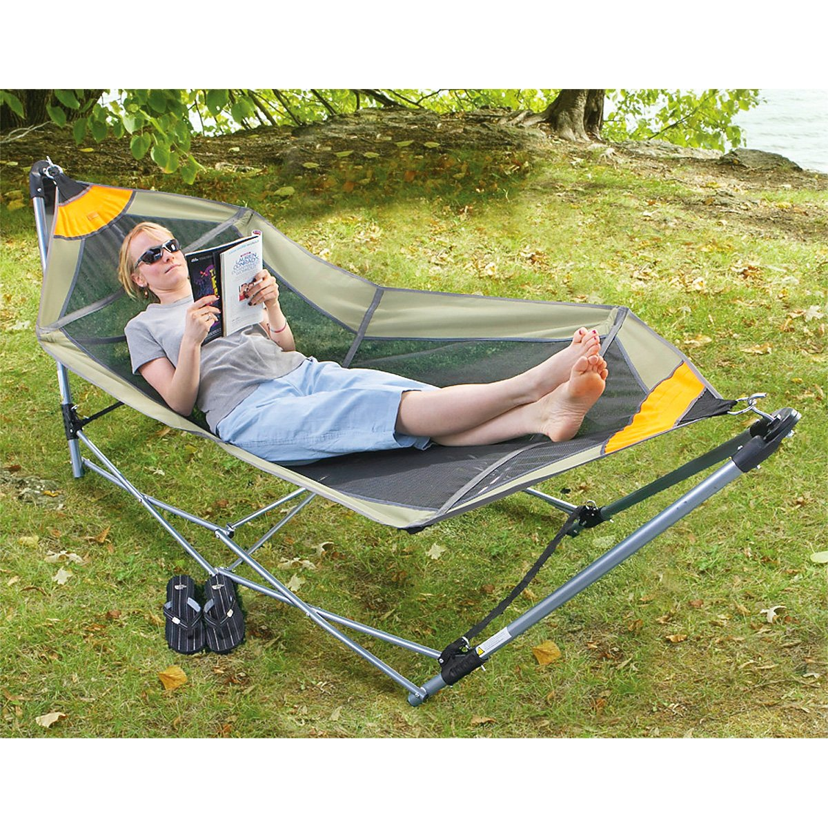 Portable Hammock Light Weight Outdoor Spa Relaxing Bed Reading Nature Camping
