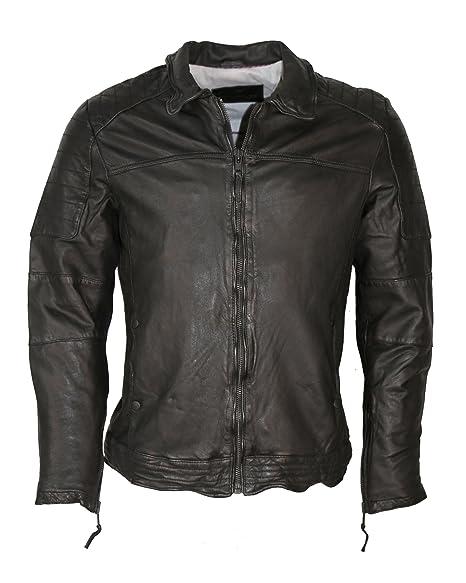 Tom Tailor Lederjacke, Herren TT 6070013 (black)