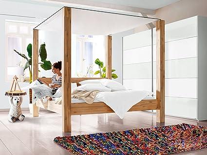 "Himmelbett Bett Doppelbett Einzelbett Jugendbett Ehebett Massivholz ""Cancun I"" (180x200 cm)"