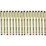 Sakura Pigma Micron PN line Drawing 8 Color pens Set, Bible journaling Study kit, Assorted Colors Pack of 2 (Color: 2 Pack)