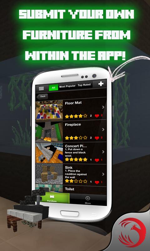 M bel f r minecraft m bel builds ideen f r minecraft m bel pe pocket edition pc edition - Android app ideen ...