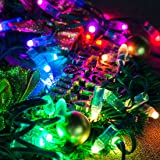 BTF-LIGHTING WS2811 Diffused Digital RGB LED pixel string light 12mm Individually Addressable round LED module 50pcs/string IP68 Waterproof DC 5V