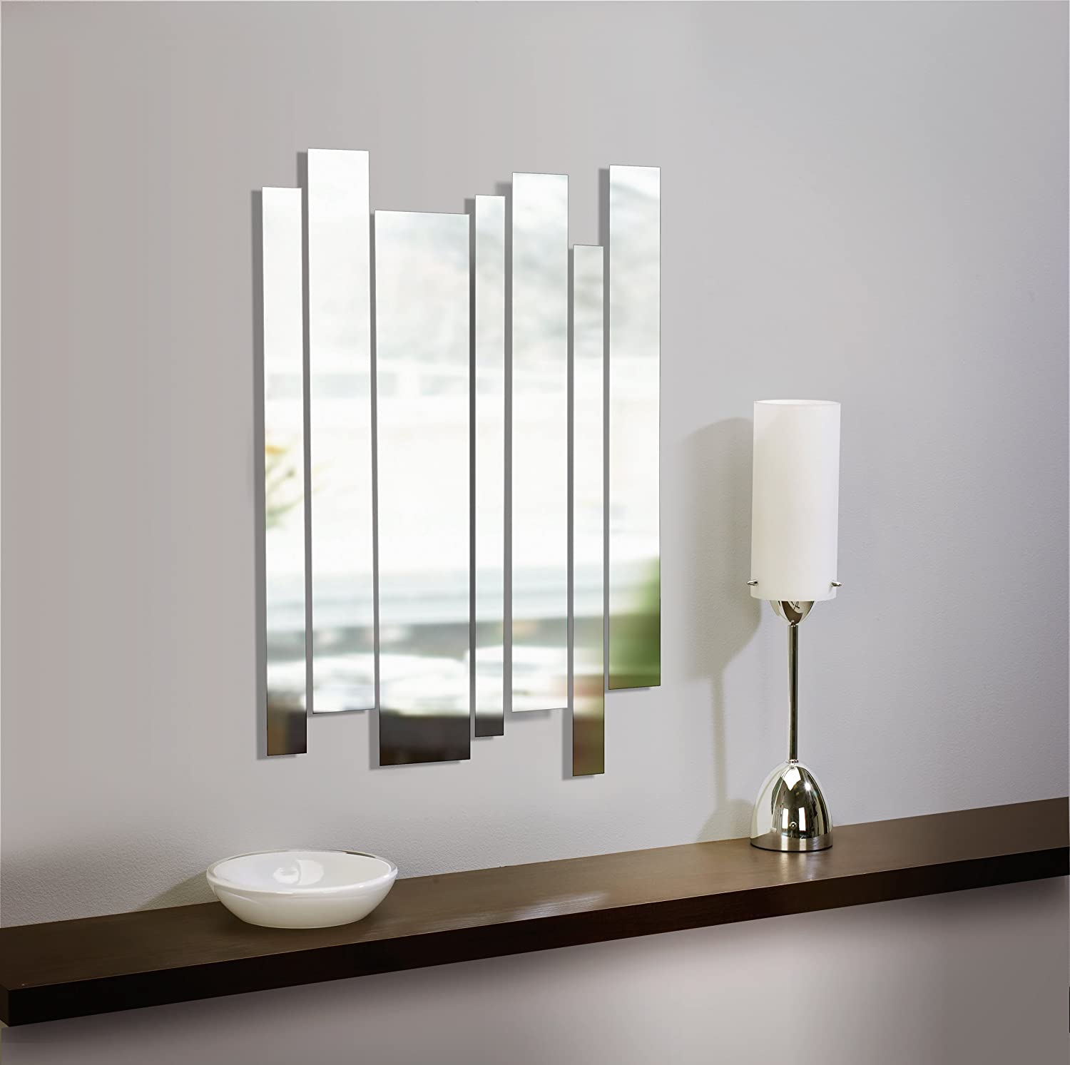 umbra strip wall mount mirrors set of 7 new free shipping ebay. Black Bedroom Furniture Sets. Home Design Ideas