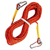 Tresbro Climbing Rope Outdoor Rock Climbing Rope 10M(32ft) 20M(64ft) 30M (96ft) 50M(160ft) Safety Survival Rope Abselling,Caving,Rescuing (Color: 33 Feet/10M)