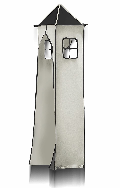 Turm für Hochbett Spielbett Turmstoff inkl. Gestell – Pirat (Schwarz/Beige) für Hochbett – TGS-80 günstig