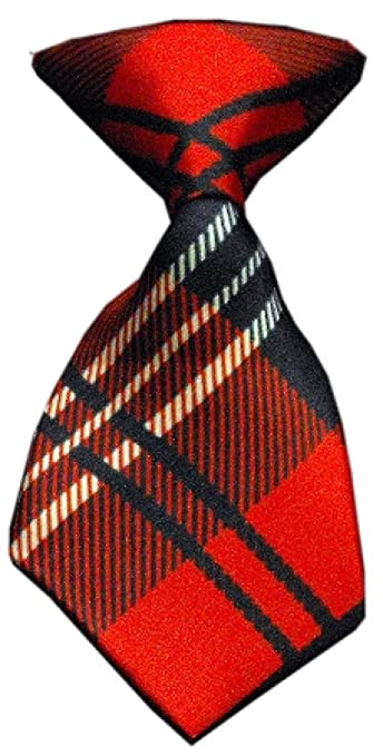 Mirage Pet Products Dog Neck Tie, Red Plaid