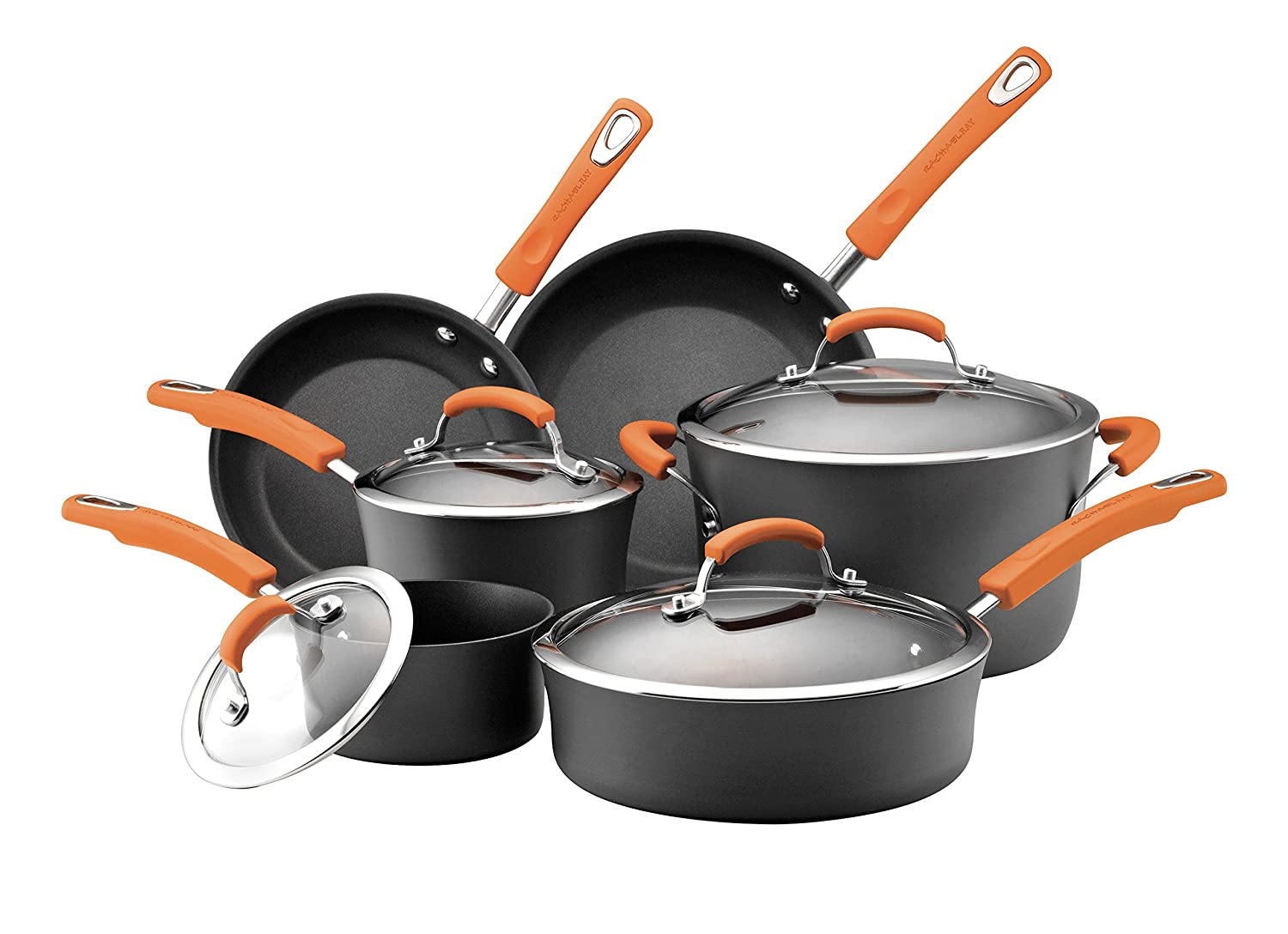 Rachael Ray Hard Anodized 10-Pc Cookware Set