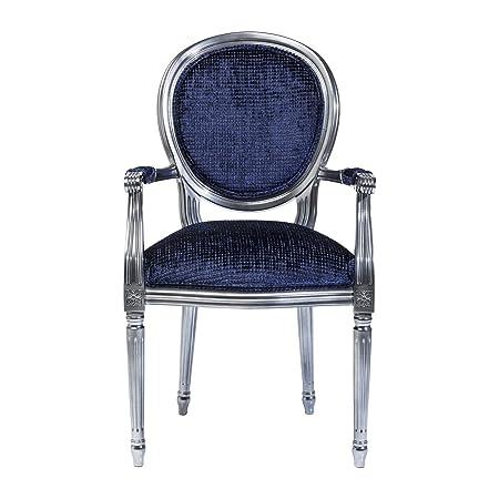 Fauteuil Baroque Posh Silver bleu Kare Design