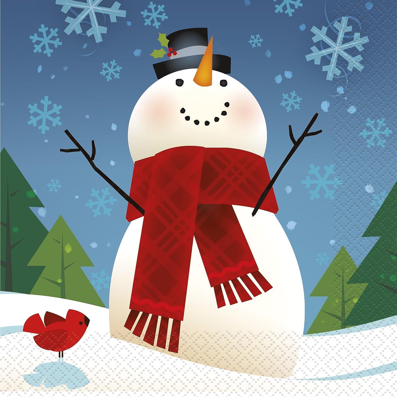 Joyful Snowman Holiday Luncheon Napkins, 16ct