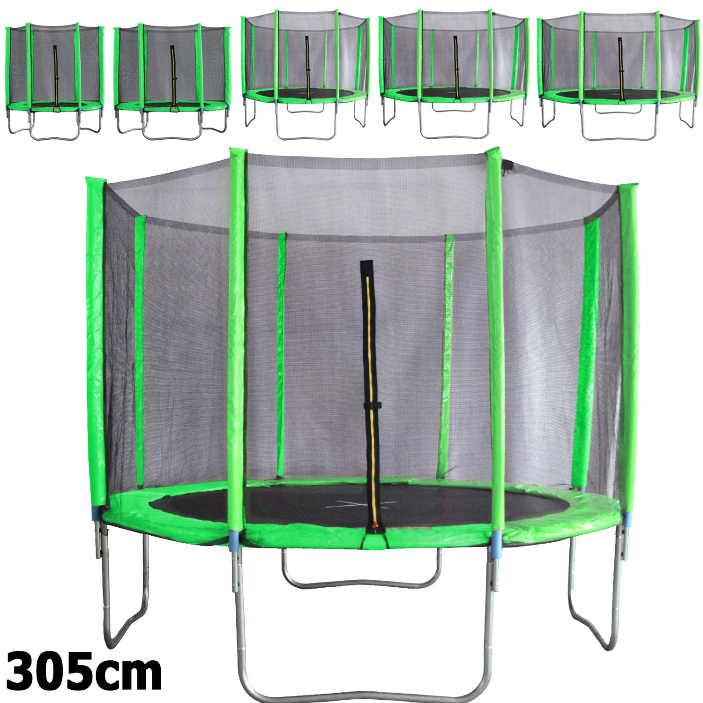 Premium Trampolin neongrün 183 244 305 366 427cm mit Netz Sicherheitsnetz Gartentrampolin für Kinder jetzt kaufen
