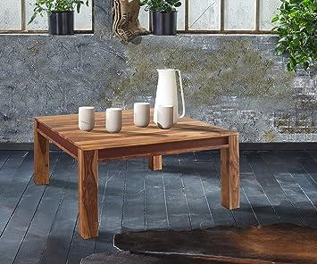Wohnzimmertisch Shan Sheesham Shina 100x100 cm Maserung Massivholz Couchtisch