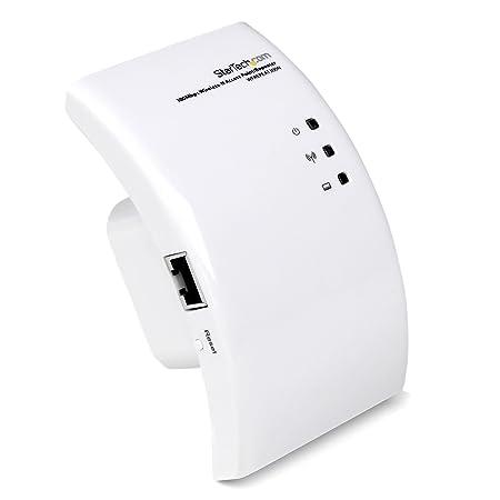 StarTech.com Extendeur WiFi 802.11b/g/n - Point / Borne d'accès sans fil N 300 Mb/s - Répéteur / Amplificateur de signal WiFi