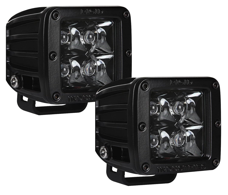 Rigid Industries 20221BLK D-Series Midnight Edition Black Spot Optic, Pair