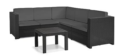 PROVANCE Lounge Set 2-teilig Gartenmöbel Sitzgruppe Gartengarnitur anthrazit ***NEU***