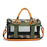 ROVERLUND Airline Approved Dog Carrier. Design Centric. Built to Last. (Large, Camouflage) (Color: Camouflage, Tamaño: Large)