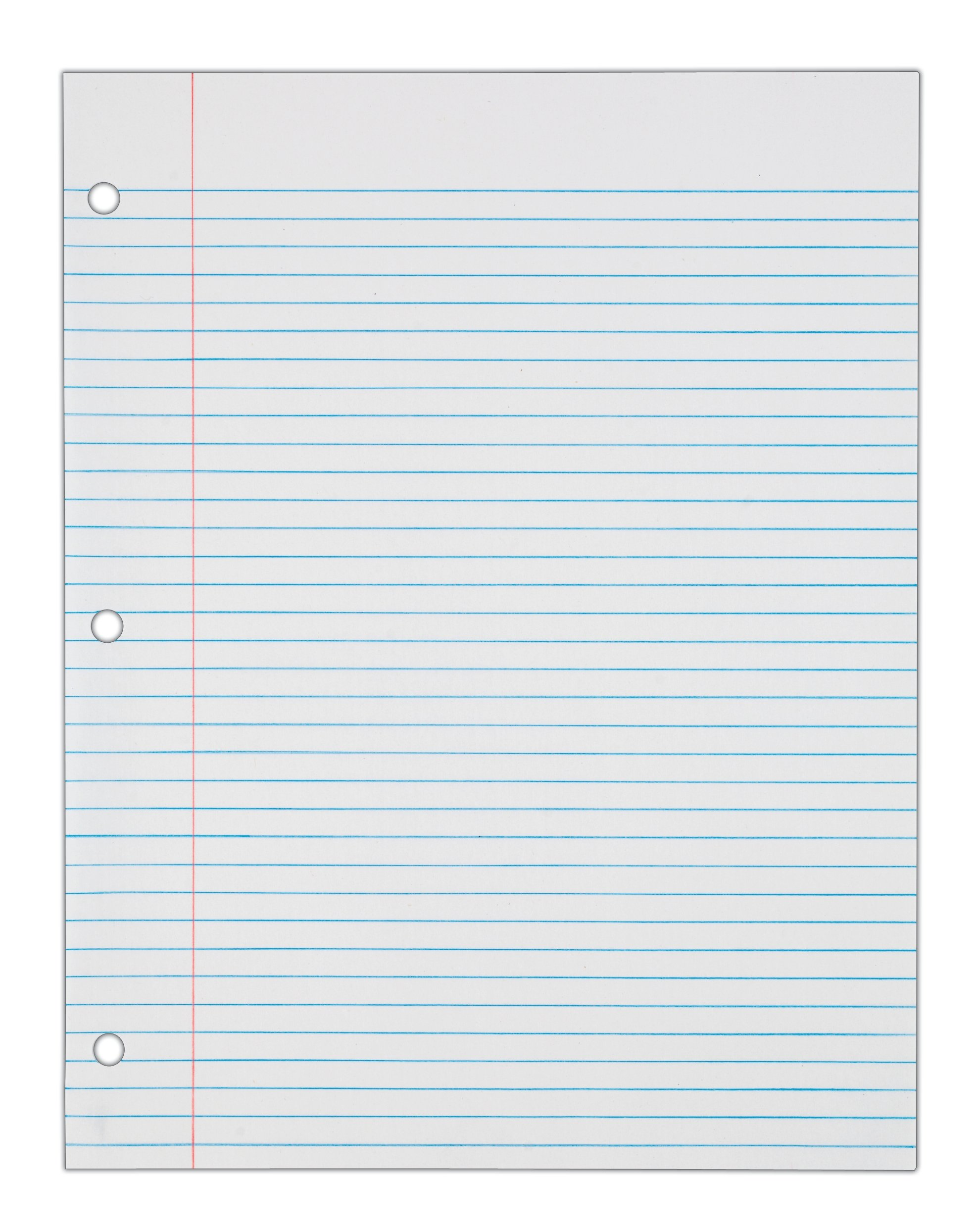 College Ruled Notebook Paper Sample College Ruled Notebook Paper ...