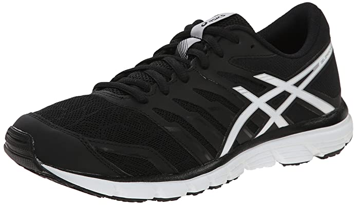 ASICS Women's Gel-Zaraca 4 Running Shoe, Black/White/Silver, 8 M US