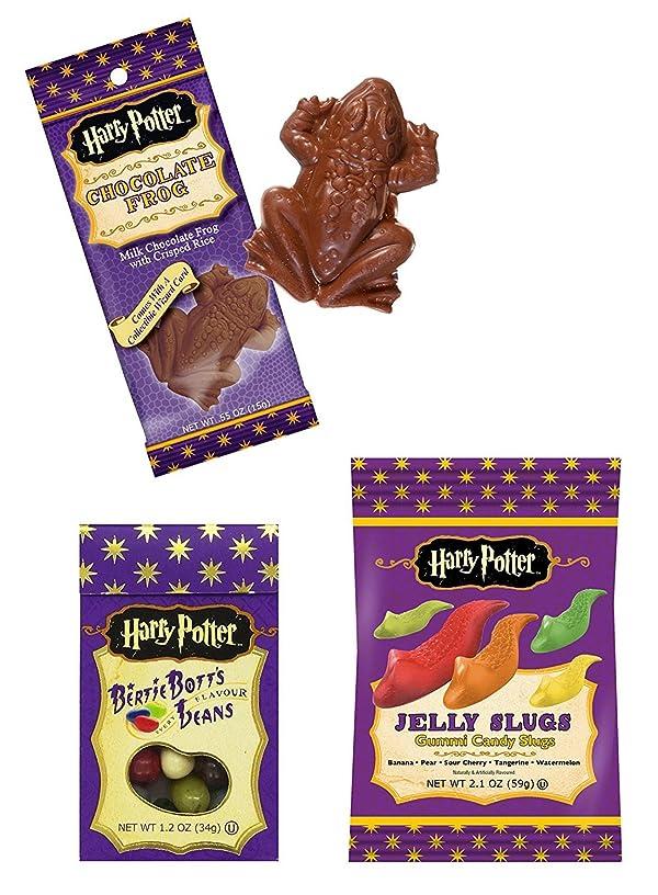 Harry Potter Jelly Gummy Candy Slugs, Bertie Botts Every Flavour Jelly Beans & Chocolate Crispy Frog (Bundle of 3 Items)