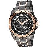 Men's Bulova Champlain Style Precisionist Diamond Watch 98D149 (Color: Black, Tamaño: One Size)