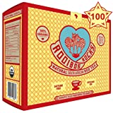 ROOIBOS ROCKS ROOIBOS TEA - 100 USDA ORGANIC TEA BAGS, South African Caffeine Free Red Tea - Pure, Natural, Healthy Living, Gluten Free, Calorie Free and Sugar Free, Antioxidant Rich, Herbal Tea Drink