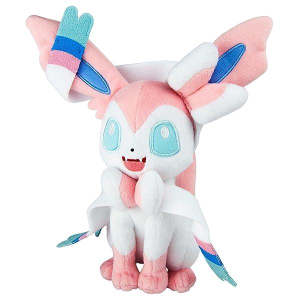 Pokemon Sylveon 8 inch Collectable Plush Toy (Color: Multi-colour, Tamaño: 8.0-inch)