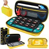 Carry Case for Nintendo Switch Lite - Portable Travel Carry Case with storage for Switch Lite Games & Accessories [Yellow] (Color: Yellow)
