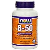 NOW B-50 with 250mg Vitamin C,100 Capsules
